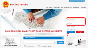 đăng ký web bán hàng với bộ công thương