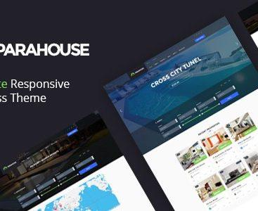 Theme Parahouse giao diện bất động sản