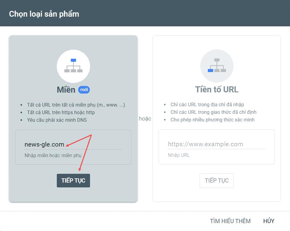 hướng dẫn chuyển website sang domain khác