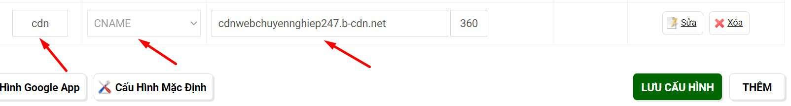 đổi tên miền CDN