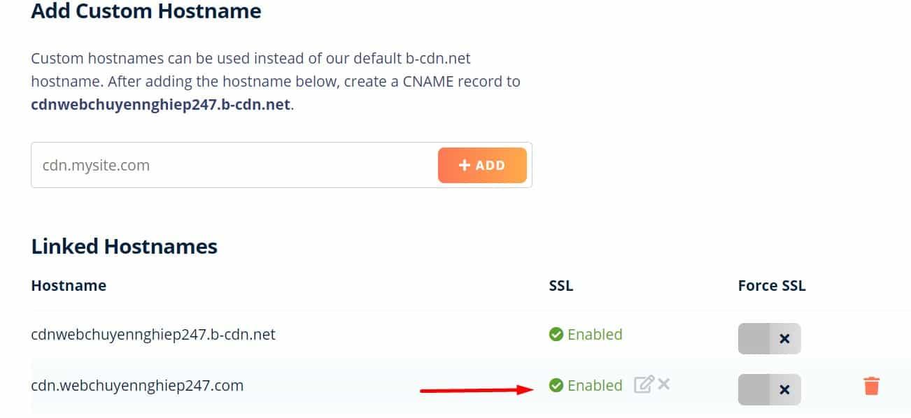 thiết lập SSL cho tên miền tùy chỉnh của bạn