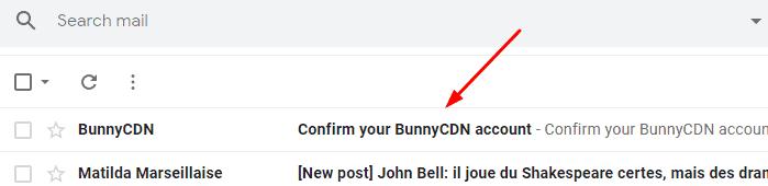 Confirm your BunnyCDN account