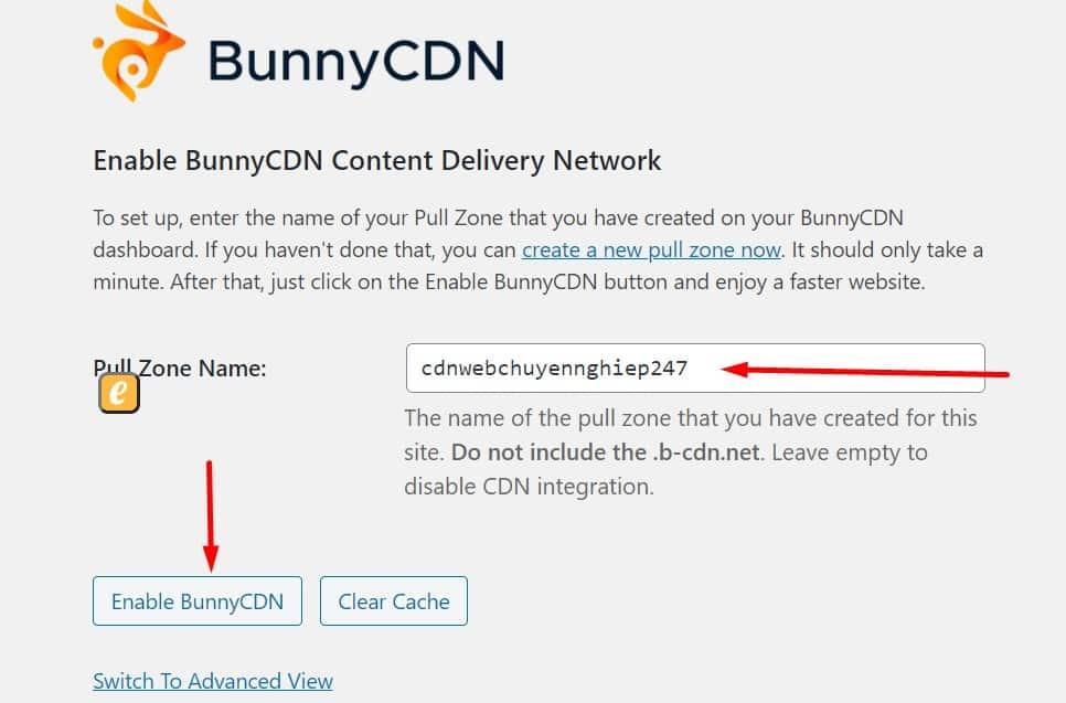 cầu hình plugin BunnyCDN