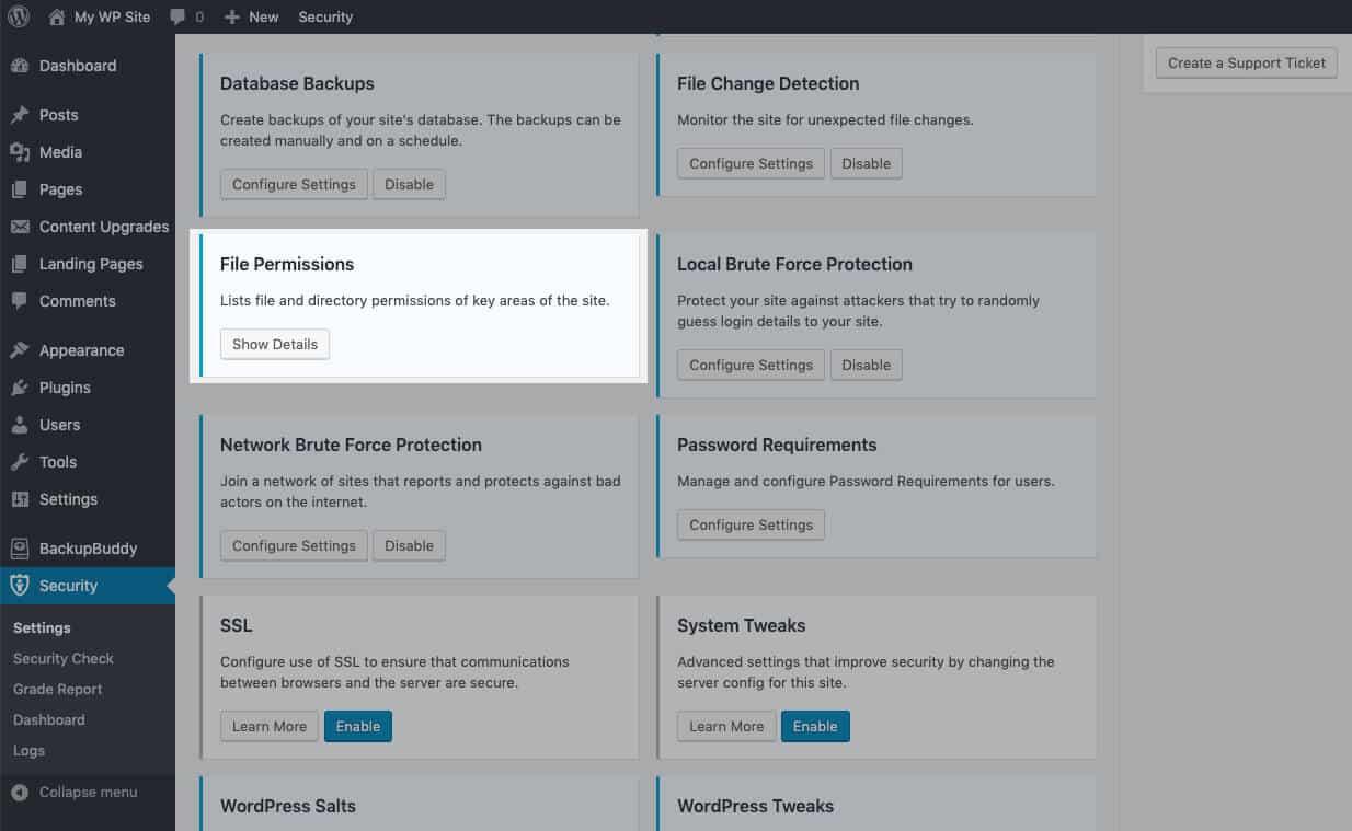 Sử dụng Plugin bảo mật iThemes để kiểm tra quyền đối với tệp WordPress của bạn