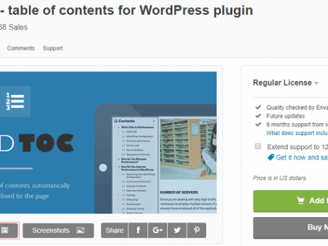 Fixed TOC Plugin tạo mục lục cho WordPress