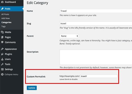Tùy chỉnh Permalinks trong WordPress